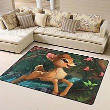 Bambi Cartoon Area Rug Floor Rugs Living Room