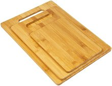 Bamboo 3 Piece Chopping Board Set Symple Stuff