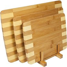 Bamboo 4 Piece Chopping Board Set Symple Stuff