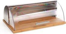 Bamboo and Stainless Steel Bread Bin