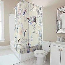 Bamboo Bird Crane Shower Curtains Bath Curtains
