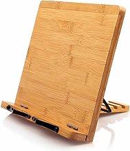 Bamboo Book Stand Cookbook Holder Desk Reading