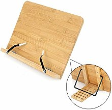 Bamboo Book Stand Cookbook Recipe Holder Reading
