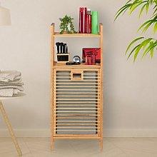 Bamboo Cabinet Laundry Bin August Grove