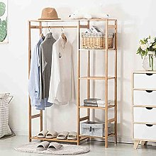Bamboo Coat Rack Wardrobe Rack Drying Racks