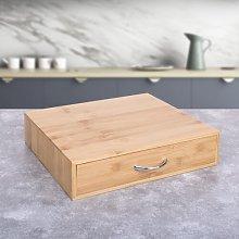 Bamboo Coffee Pod and Tea Bag Storage Drawer