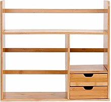 Bamboo Desk Organizer Desktop Bookshelf,Large