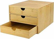 Bamboo Desk Top 3 Drawers | Bamboo Organiser |