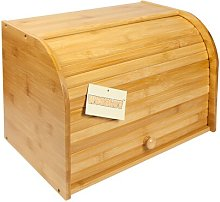 Bamboo Double Decker 2 Layer Roll Top Wooden Bread