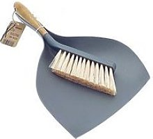 Bamboo Dustpan And Brush Set