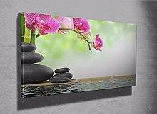 Bamboo Floral Zen basalt stones flower photo