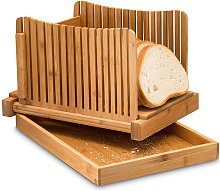Bamboo foldable bread cutting pan, bamboo and wood