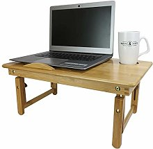 Bamboo Folding Laptop Stand | Wooden Bed Desk |
