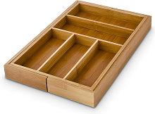Bamboo Kitchen Drawer Organiser, Adjustable Width,