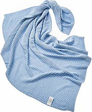 Bamboo Knitted Throw Blanket - Soft Bubble Bed for