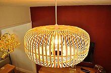 bamboo lampshade handmade wooden pendant ceiling