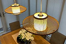 Bamboo lampshade Pendant Ceiling Shade, Round