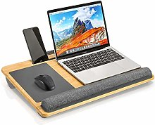 Bamboo Lap Desk with Device Ledge and Ambitexrous