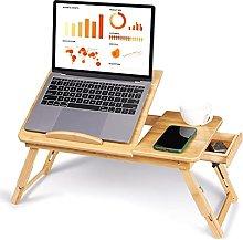 Bamboo Laptop Desk,Portable Computer Table
