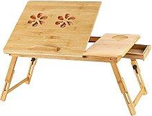 Bamboo Laptop Desk Portable Laptop Table Foldable