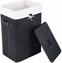 Bamboo Laundry Basket 72L Collapsible Bamboo With