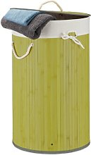 Bamboo Laundry Bin House of Hampton Colour: Green