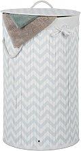 Bamboo Laundry Bin Mercury Row Colour: Grey