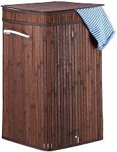 Bamboo Laundry Bin Norden Home Colour: Brown