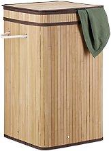 Bamboo Laundry Bin Norden Home Colour: Light brown