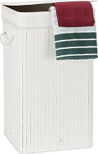 Bamboo Laundry Bin Norden Home Colour: White