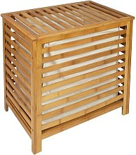 Bamboo Laundry Bin with Lid Brambly Cottage