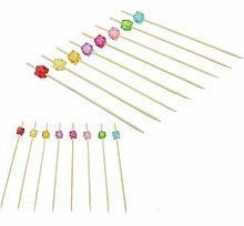 Bamboo Multicoloured Cocktail Sticks - Pukkr