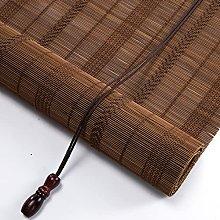 Bamboo Roller Shades Blinds Windows, Patio Roman