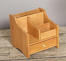 Bamboo Shelf Organizer for Desk with Drawers -