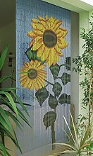 Bamboo Sunflower Hanging Door Curtain, Approx. 90