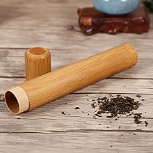 Bamboo Tea Canister, Round Shape Handmade Tea Box