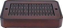 Bamboo Tea Tray Rectangular Serving Draining Board
