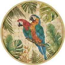 Bamboo Wall Art with Parrot Print D80