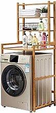 Bamboo Washing Machine Rack, Multi-Function