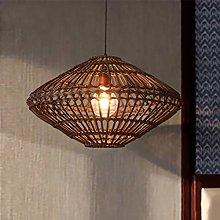 Bamboo Weave Lamp Cage Pendant Light E27 Retro