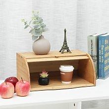 Bamboo Wood Bread Basket Storage Box Kitchen Food