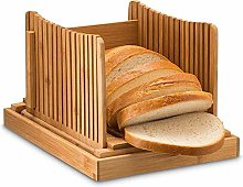 Bamboo Wood Bread Slicer for Homemade Bread Toast