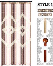Bamboo Wooden Bead String Door Tassel Curtain