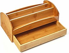 bambuswald© Bamboo Desk Organiser With 3