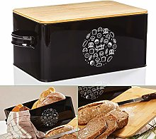bambuswald© Vintage-Style Bread Bin with Bamboo