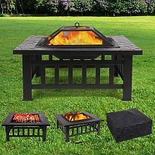 Bamny Fire Pit, Outdoor 3 in 1 Fire Pit