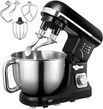 Bamny Stand Mixer with Double Dough Hook, 6-speed