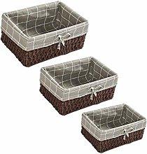 Banane 3PCS Storage Basket Decorative Baskets