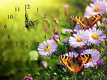 BANBERRY DESIGNS Butterfly Wall Clock -