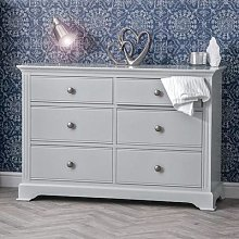 Banbury Grey Painted Chest of 6 Drawers